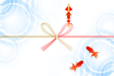 gift paper: Goldfish gift wrapping paper summer background Illustration