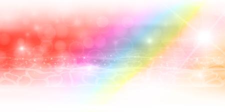 Mar del arco iris de fondo del paisaje