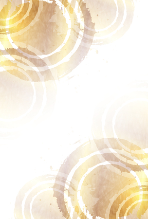 Gold paper greeting card background  イラスト・ベクター素材
