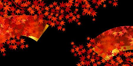 Herbstblätter im Herbst Ahorn Hintergrund
