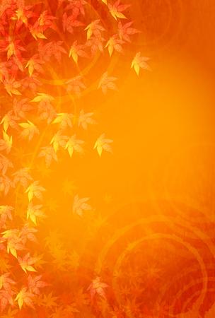Herfst bladeren vallen achtergrond frame