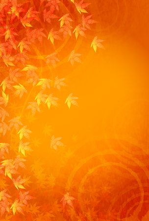 Caen las hojas de otoño marco de fondo