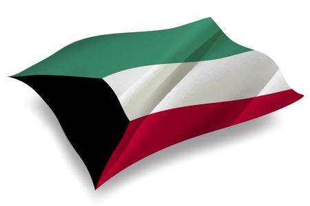 kuwait: Kuwait Country flag icon Illustration
