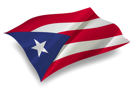 bandera de puerto rico: Puerto Rico Pa�s icono de la bandera Vectores