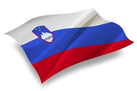 Slovenia Country flag icon Illustration