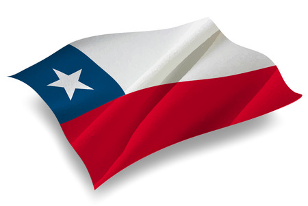 chile: Chile Country flag icon Illustration