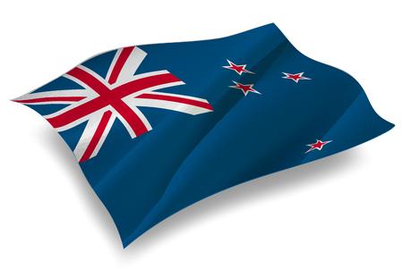 bandera de nueva zelanda: Nueva Zelanda País icono de la bandera Vectores