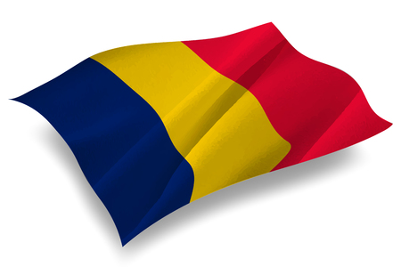 chad flag: Chad Country flag icon Illustration