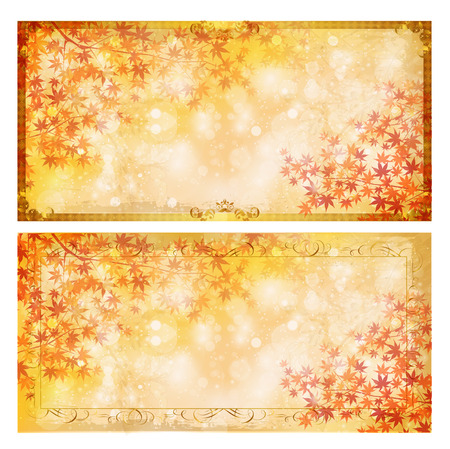 fall leaves: Autumn leaves fall background frame