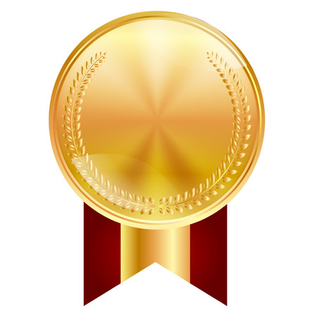 Medal frame ribbon icon 일러스트