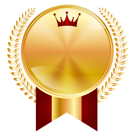 Crown medal frame icon Çizim