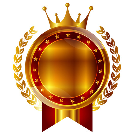Crown medal frame icon 向量圖像