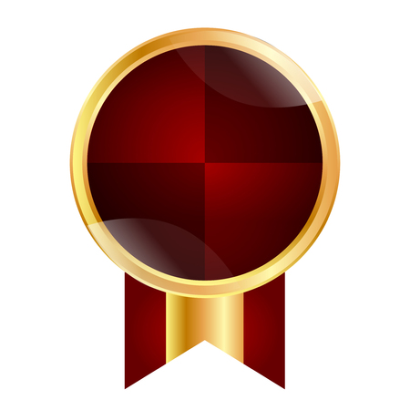 Medal frame ribbon icon Illustration