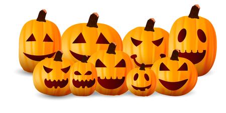 Halloween-Kürbis im Herbst Hintergrund