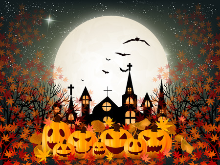 Halloween pumpkin autumn background