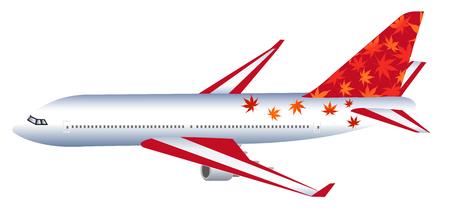jumbo jet: Airplane rides autumn leaves icon
