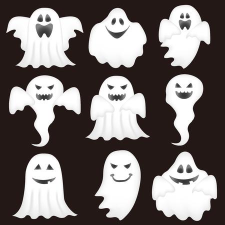 Halloween haunted ghost icon Stock Illustratie