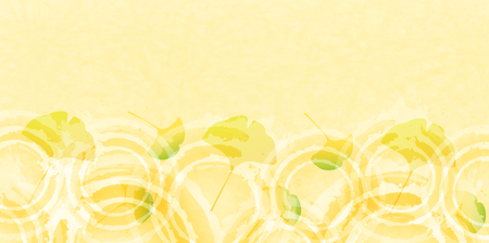 ginkgo: Ginkgo autumn leaves autumn background Illustration