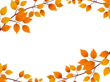 Las hojas de otoño paisaje de otoño