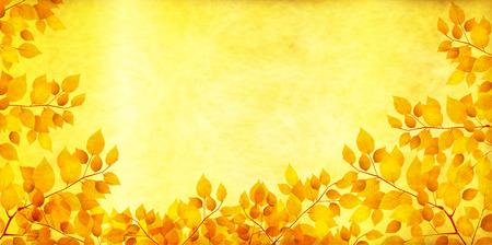 Gold-Blätter im Herbst Herbst Hintergrund