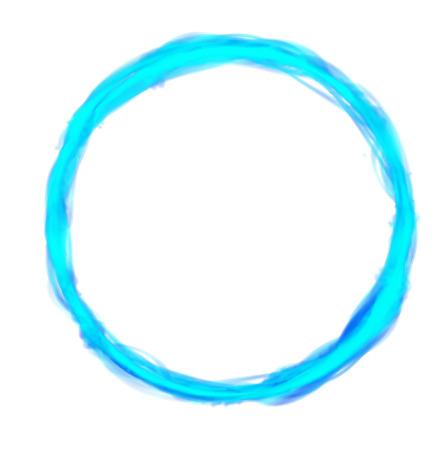 Blauw kader cirkel pictogram
