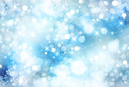 クリスマスの雪の風景の背景