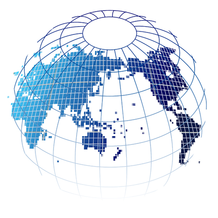 World map globe icon Illustration