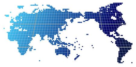 世界地図の正方形のアイコン