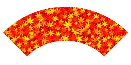 fall leaves: Autumn leaves fall fan icon Illustration