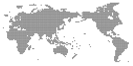 World map square icon Illustration