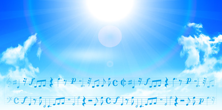 the music: Note music music background