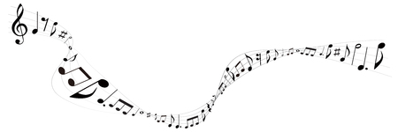 the music: Note music music icon Illustration