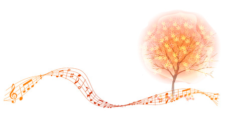 Autumn leaves autumn note background