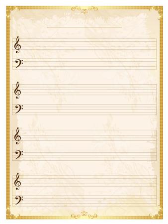 music background: Note music music background