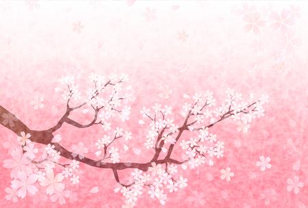 Cerise printemps papier japonais fond