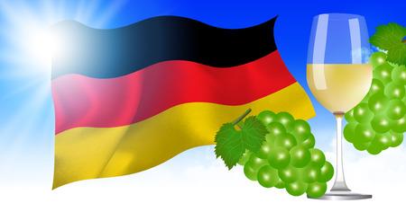 Niemcy Flaga narodowa Winogron tło