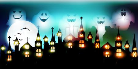 halloween background: Halloween Haunted Castle background