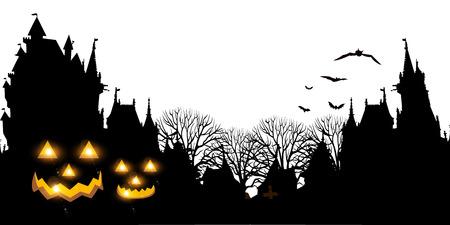 Halloween pumpkin ghost background
