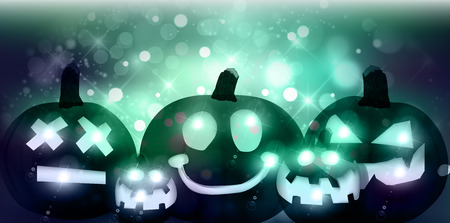 halloween background: Halloween pumpkin ghost background