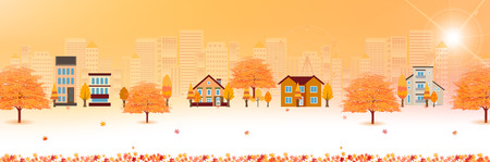 fall landscape: Autumn leaves fall family background