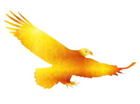 Kakas sólyom Újév kártya ikonja