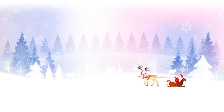 snow landscape: Christmas snow landscape background