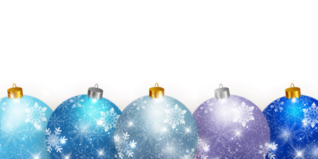 Christmas snow ball background Illustration
