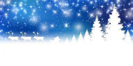 Christmas snow landscape background