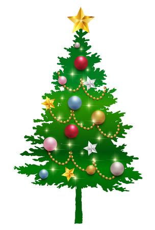 fir tree: Christmas tree fir tree star icon