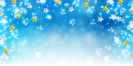 star background: Christmas star snow background
