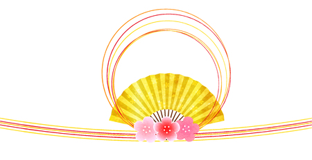 Plum New Years card spring background