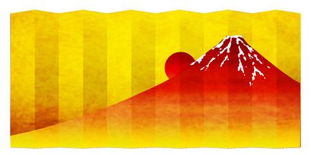 Fuji sunrise New Years card icon