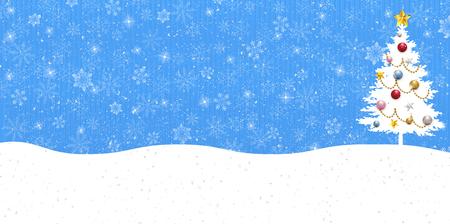 fir tree: Christmas snow fir tree background