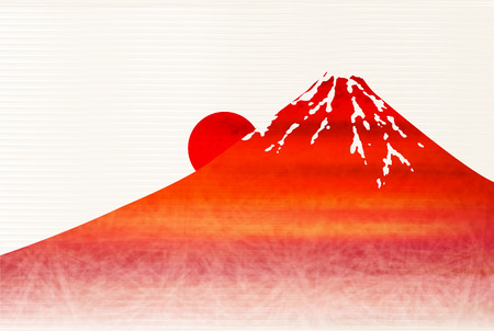 Fuji sunrise New Years card background